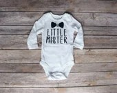 Little Brother Outfit, Little Mister, Matching sibling shirt set, Little Brother, Newborn Outfit, Baby Boy Outfit, Hospital Outfit