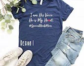 I Am His Voice He Is My Heart, Special Needs Mom, kind Shirt, Kindness, Inspirational Shirt, Woman Tee, Mom Gift, Teacher Gift
