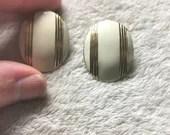 Boucles d'oreilles (vintage) - Bouclier d'or