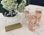 Bridesmaid Champagne Glasses | Bridesmaid Gift | Personalized Bridesmaid Gift | Glass Champagne Flute | Bridesmaid Proposal