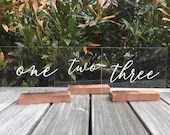 Acrylic Table Numbers | W...