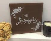 Last Name Wood Sign | Custom Name Sign | Wedding Gift | Personalized Name Sign | Newlywed Gift | Bridal Shower Gift | Housewarming Gift