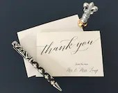 Wedding Thank You Cards | Wedding Stationery | Thank You Cards | Personalized Wedding Stationery | Custom Stationery | Thank You Notecards
