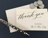 Future Mr. & Mrs. Thank You Cards | Wedding Thank You Cards | Wedding Stationery | Personalized Stationery | Custom Stationery | Notecards