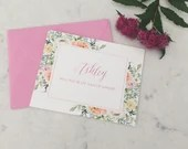 Personalized Bridesmaid Proposal Card | Will you be my bridesmaid | Maid of Honor Proposal Card | Personalized Floral Bridal Party Cards