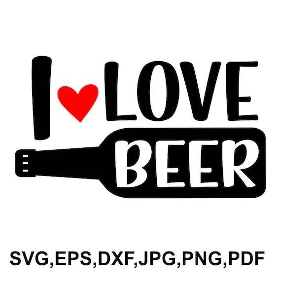Download I love beer SVG file beer cricut file i love beer shirt   Etsy
