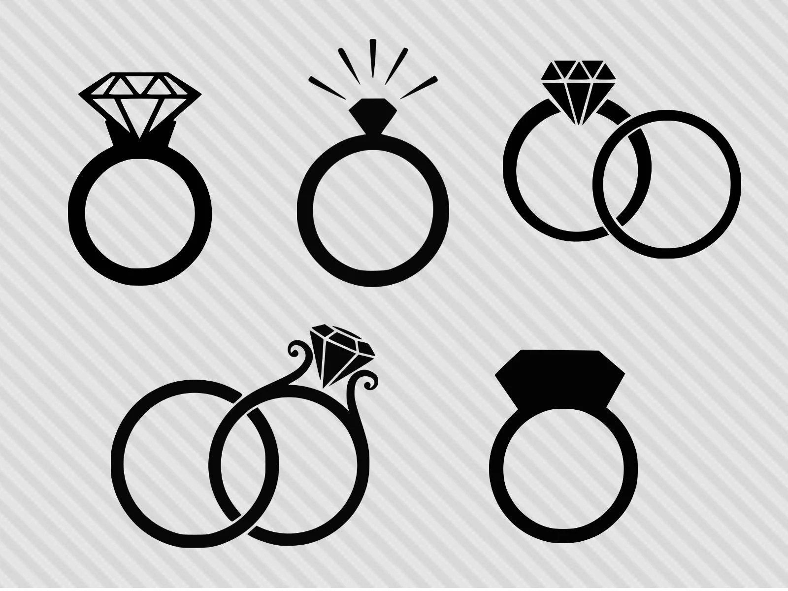 Engagement Ring Svg Engagement Ring Clipart Dxf Diamond