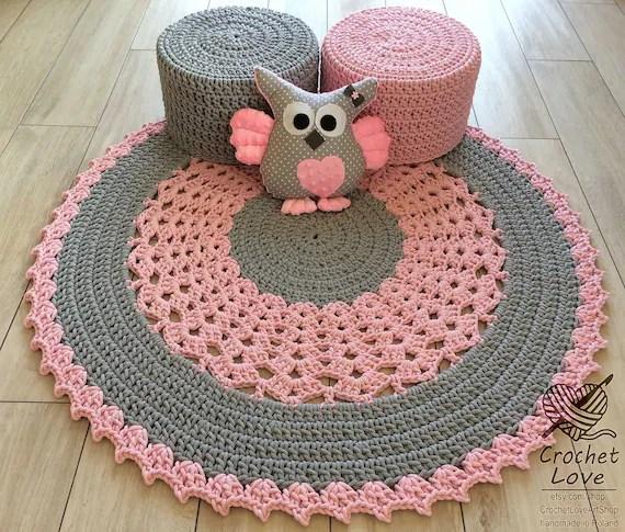 rug crochet moderne tapis rond de crochet tapis d enfants tapis de crochet de pepiniere tapis de bebes teppiche de crochet tapis de crochet