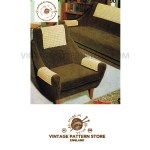 70s Vintage Chair Settee Sofa Back And Arm Chair Covers Pdf Crochet Pattern Instant Pdf Download 90