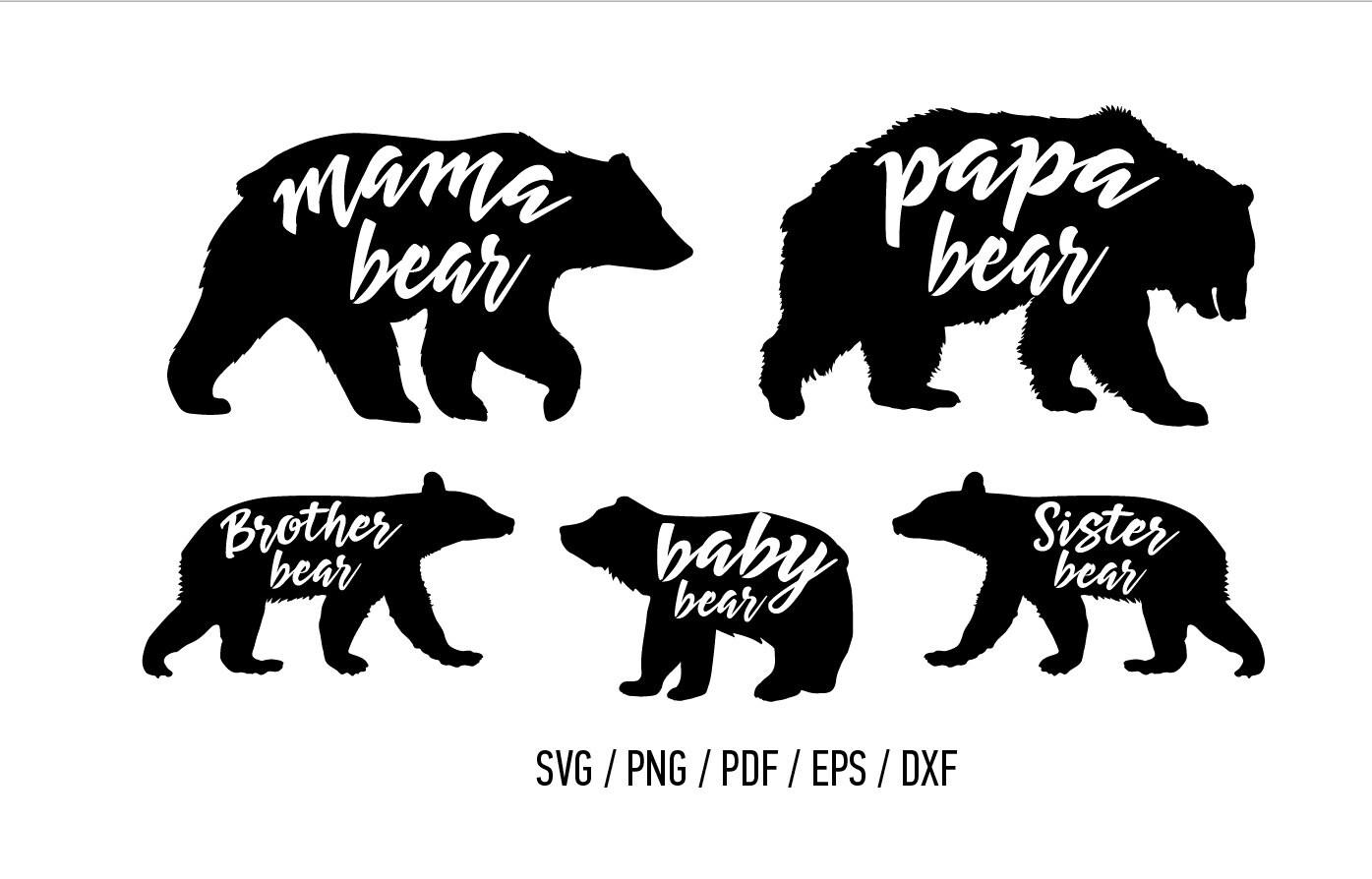 Mama Bear Baby Bear Papa Bear Sister Bear Brother Bear