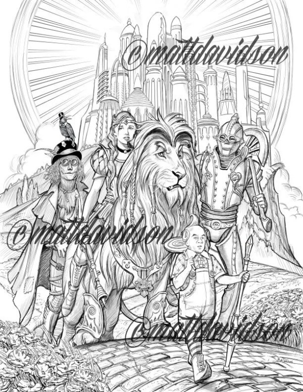 fantasy coloring pages for adults # 75