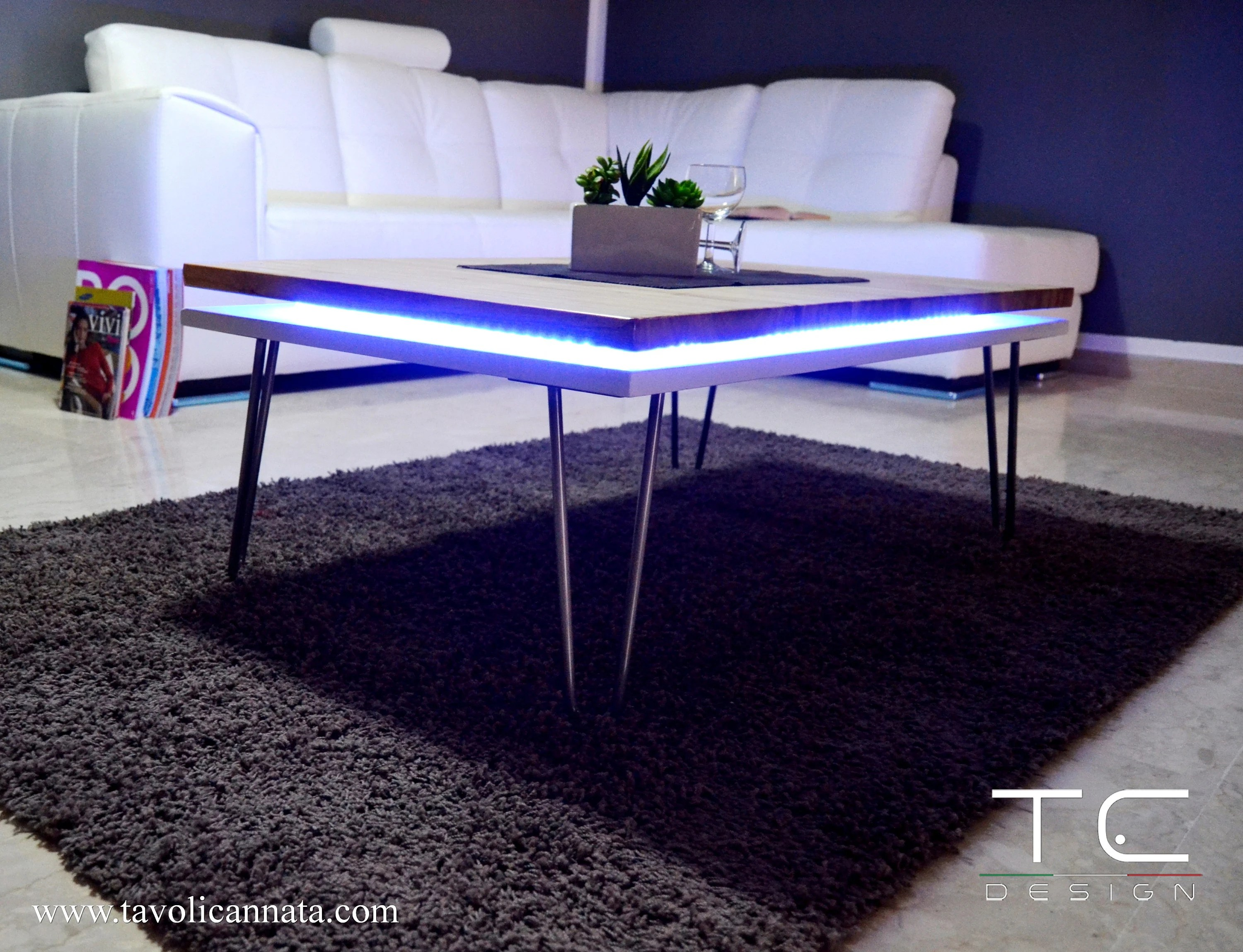 led coffee table etsy