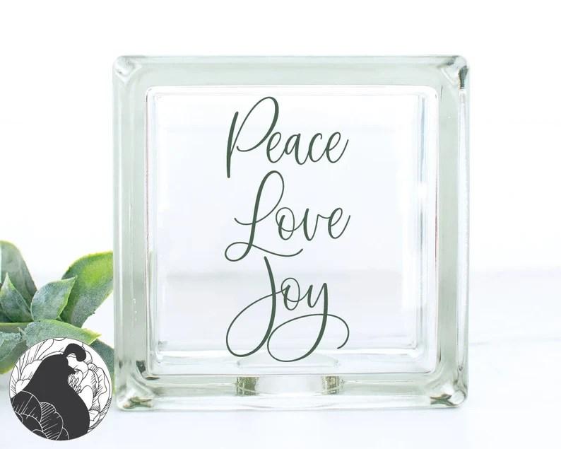 Download Peace Love Joy SVG Christmas Sign svg Holiday Wall Art Joy ...