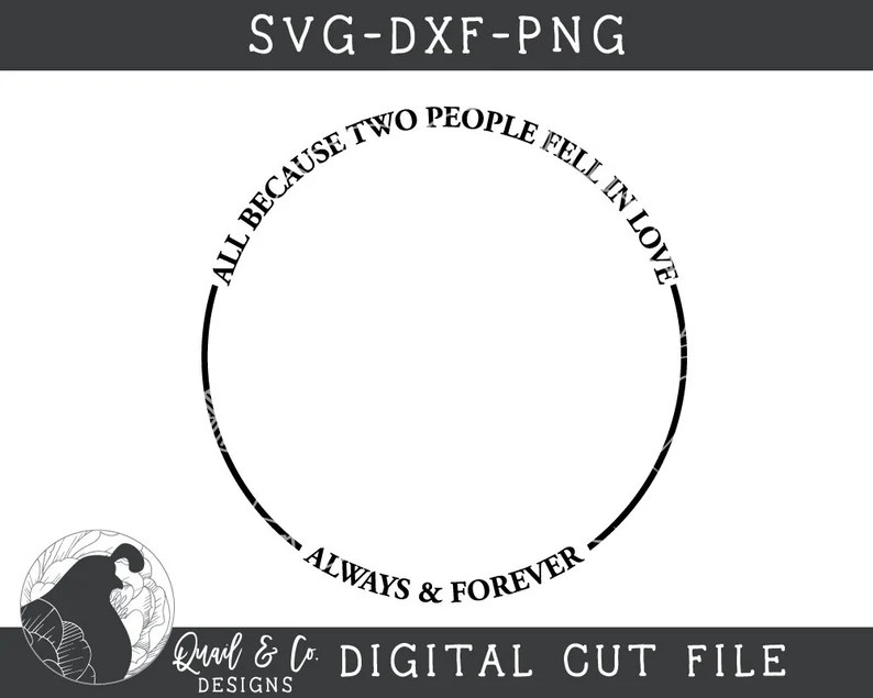 Download All Because Two People Fell In Love SVG Family Name Cut ...