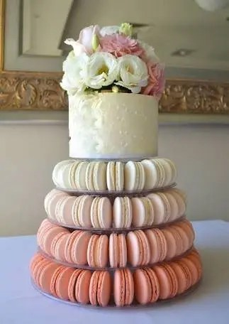 4 tier cake stand   Etsy 4 Tier Macaron Tower Cake Stand