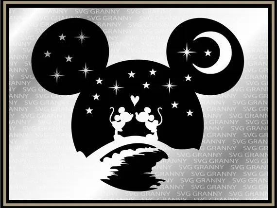 Download Mickey head, Disney couple SVG DXF Png Layered Cut File ...