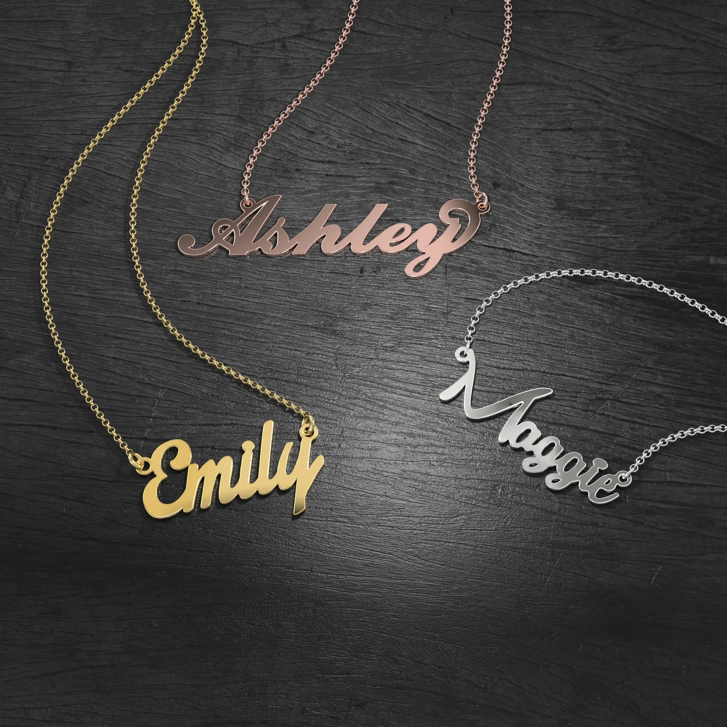 10K & 14K Solid Gold Never Plated Personalized Name image 7