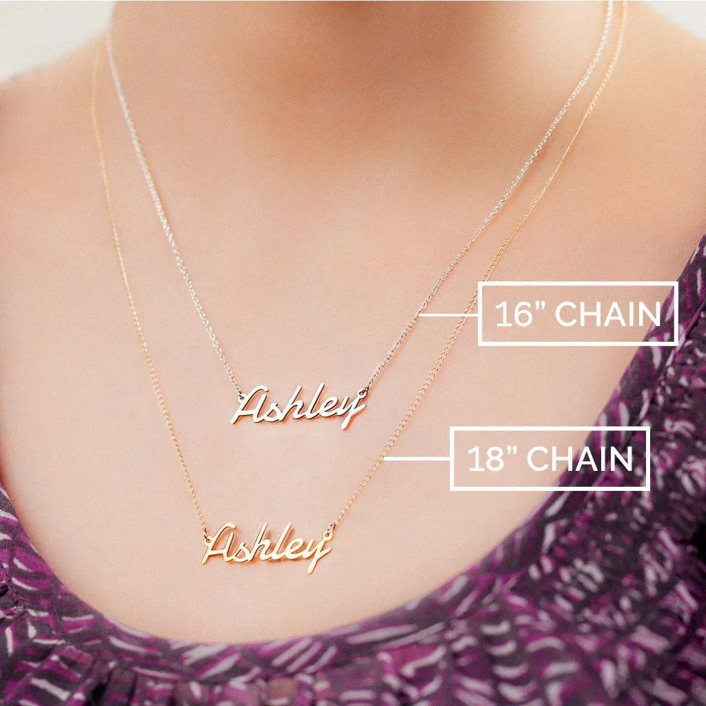 10K & 14K Solid Gold Never Plated Personalized Name image 8