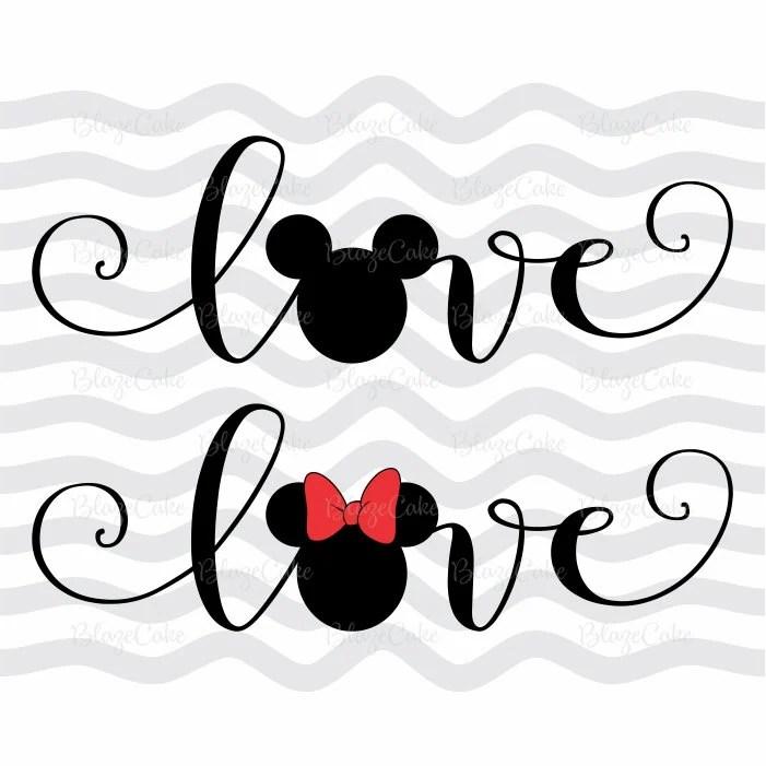 Download Love disney svg Love disney dxf Love disney cut Love ...