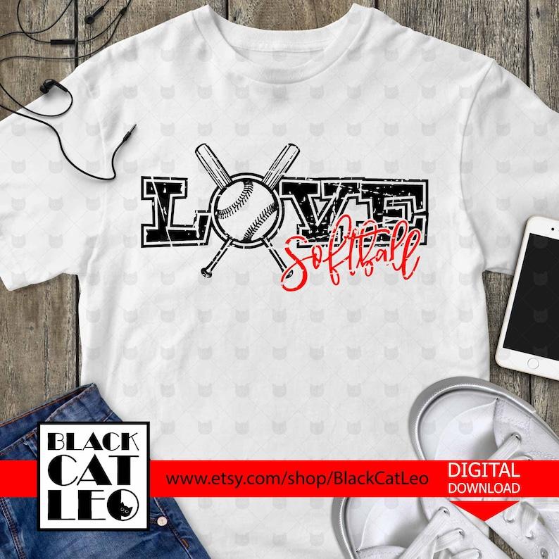 Download Love Softball svg Softball cut file Softball distressed   Etsy