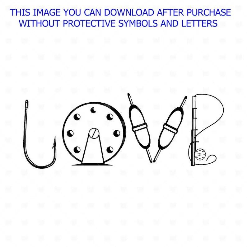 Download Love Fishing cut file SVG Fisher t shirt design Fish svg ...