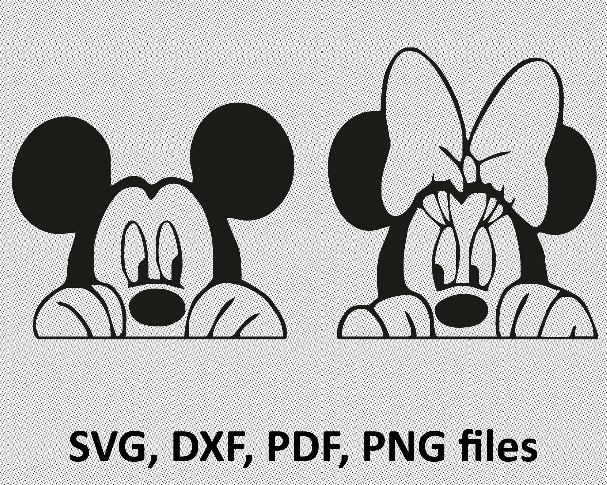 Mickey Mouse Svg File Minnie Svg Vinyl Cutting File Minnie