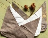 Bento Bag in linen dyed with the colors of nature - bread bag - origami bag - lunch bag - LARGE