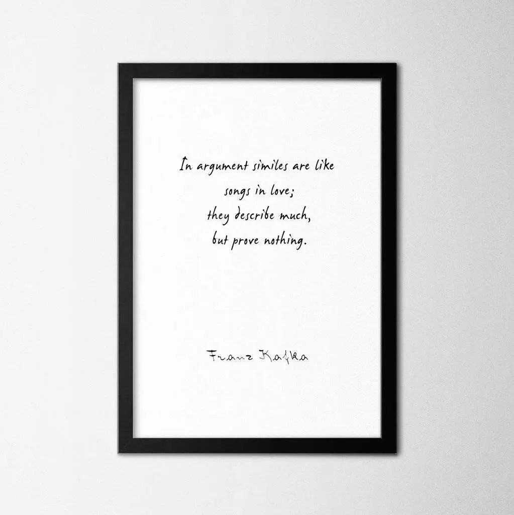 Franz Kafka Vi Quote Poster Print Framed Or Unframed Poster Print Quotes Affiche Plakat Wall Art Wall Decor Quote Print