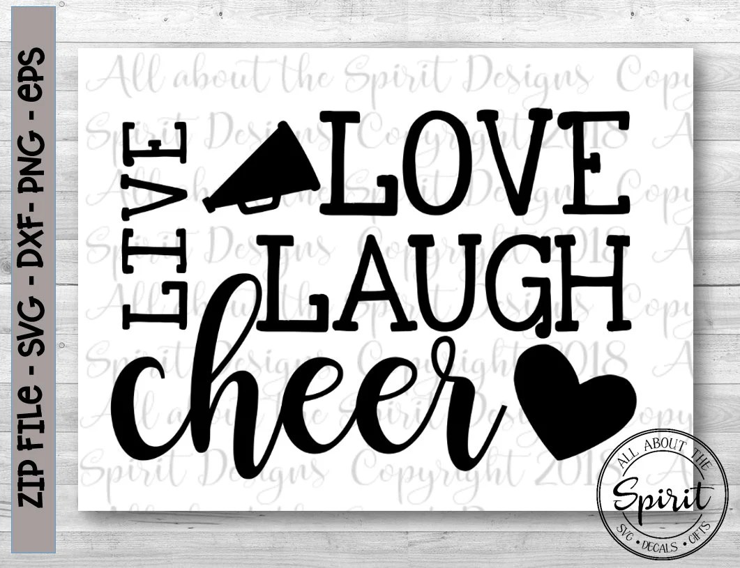 Download SVG Live Love Cheer Cricut svg Silhouette dxf Cheer svg ...