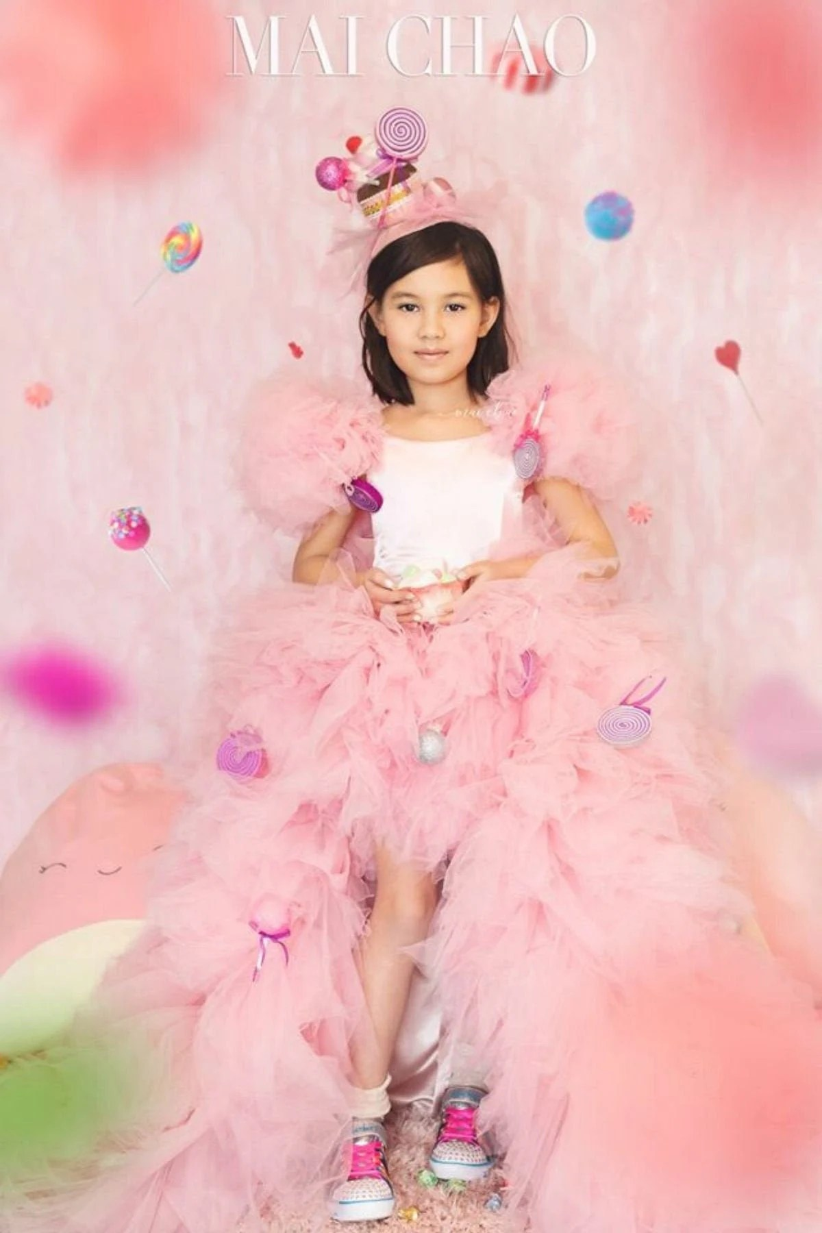 Cotton Candy Dress Candy Birthday Theme Pink Flower Girl