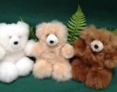 Alpaca Fibre plush Teddy Bears