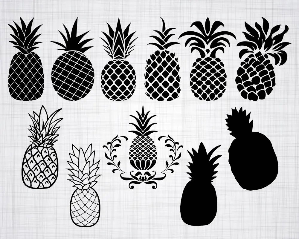 Download Pineapple SVG Bundle, Pineapple SVG, Pineapple Clipart ...