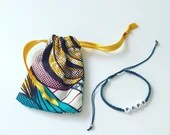 Shell bracelet woven, jewel man bracelet for Dad, macramé, ethnic bracelet, cowrie, African wax