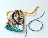 Woven shell bracelet, men's jewelry, dad's bracelet, macramé weaving, ethnic bracelet, curd, wax, African
