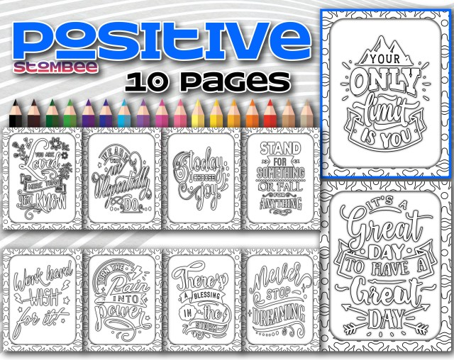 Positive Affirmation Coloring Pages, Adult Coloring Pages Printable, Adult  Coloring Page Printable, Coloring Page for Adult Printable