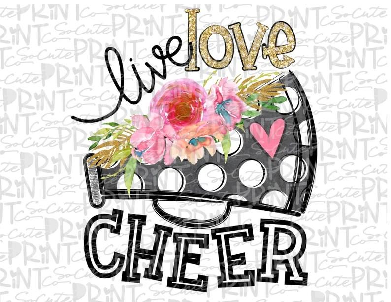 Download Live love Cheer clipart football mom Megaphone flower | Etsy