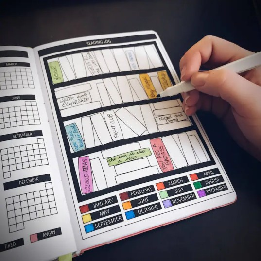 Yearly Reading Log for Passion Planner Bullet Journal Planner