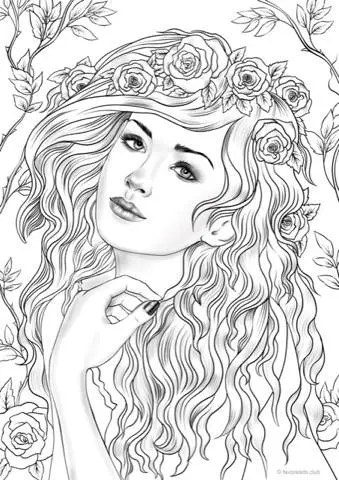 Nymph Printable Adult Coloring Page From Favoreads