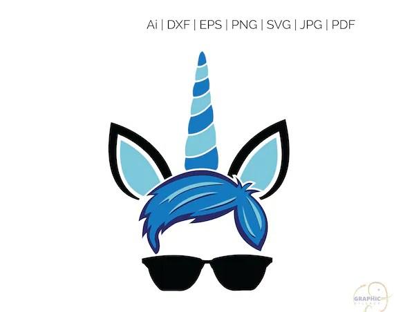 Unicorn Boy SVG Silhouette And Cricut Cut Cutting File Svg