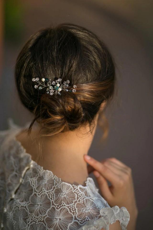 something blue wedding hairpin, bridal hair accessories, bridal hairpin, wedding hairpin sets, bridal pearls headpiece, bridesmaid hairpin.
