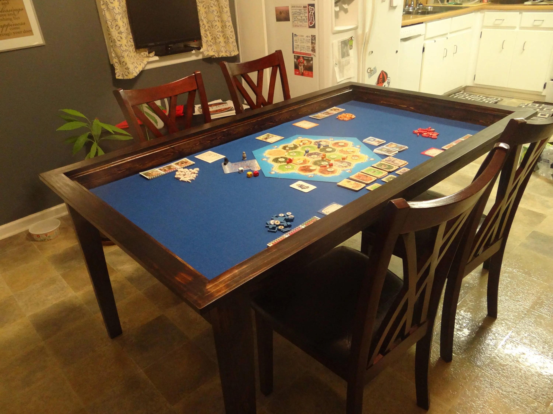 table de jeu de societe avec topper amovible