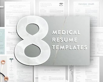 Nursing Resume Template for Word Registered Nurse Resume Medical Resume Template  Nursing Resume Template Instant Download  Doctor  Resume  Nurse Cv Template Word  RN Resume  Cna Resume  8 in 1