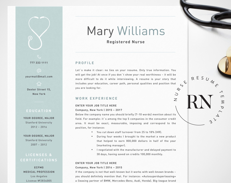 Nurse Resume Template For Word Medical Resume Word Nurse