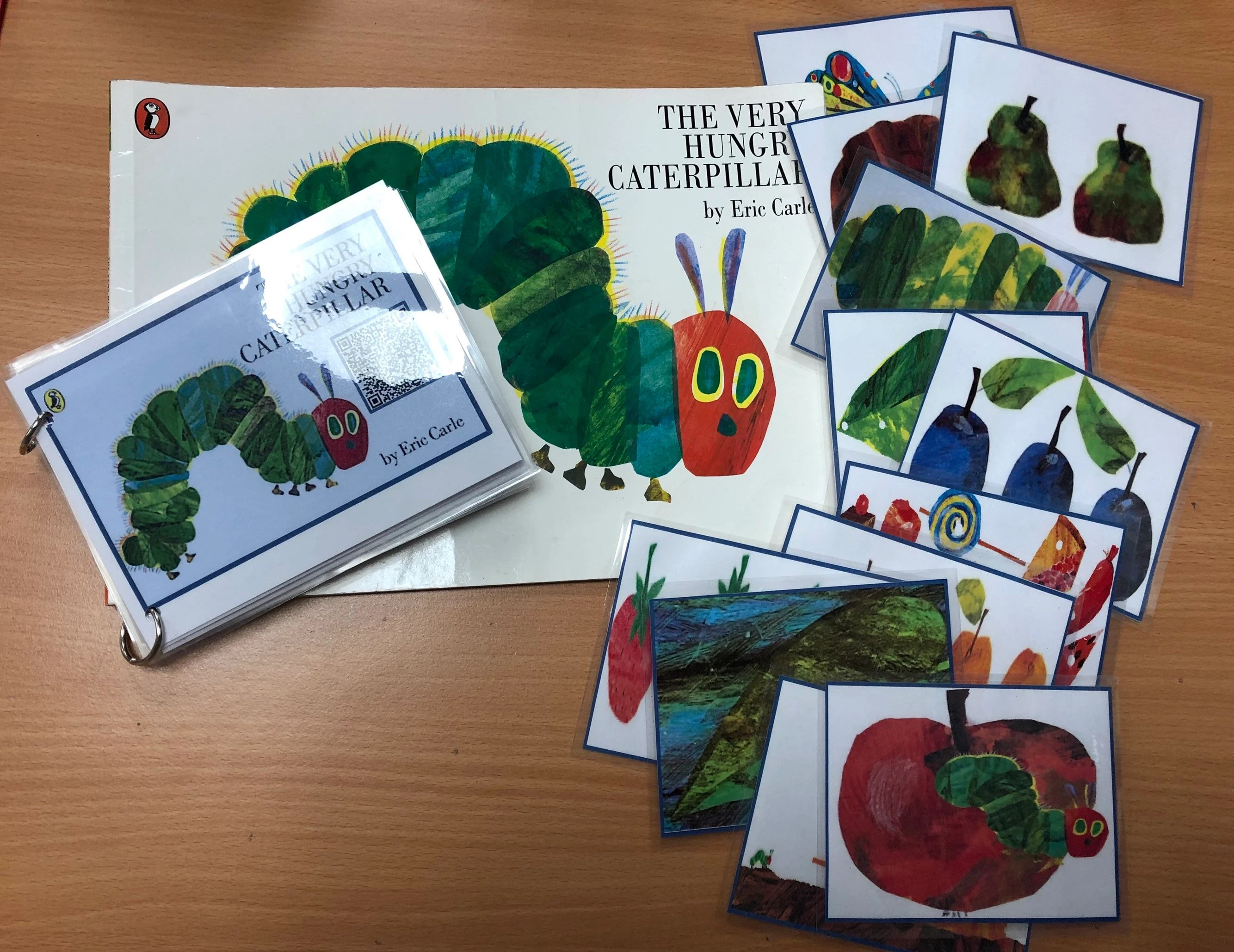 The Very Hungry Caterpillar Sequencing Book Listening