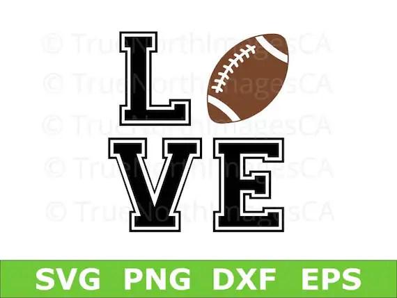 Download Football SVG / Football Love SVG / Football Clipart / | Etsy