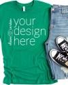 Bella Canvas 3001 Shirt Mockup Kelly T Shirt Mock Up Tshirt Etsy