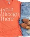 Heather Orange Bella Canvas 3001 Shirt Mockup T Shirt Mock Etsy