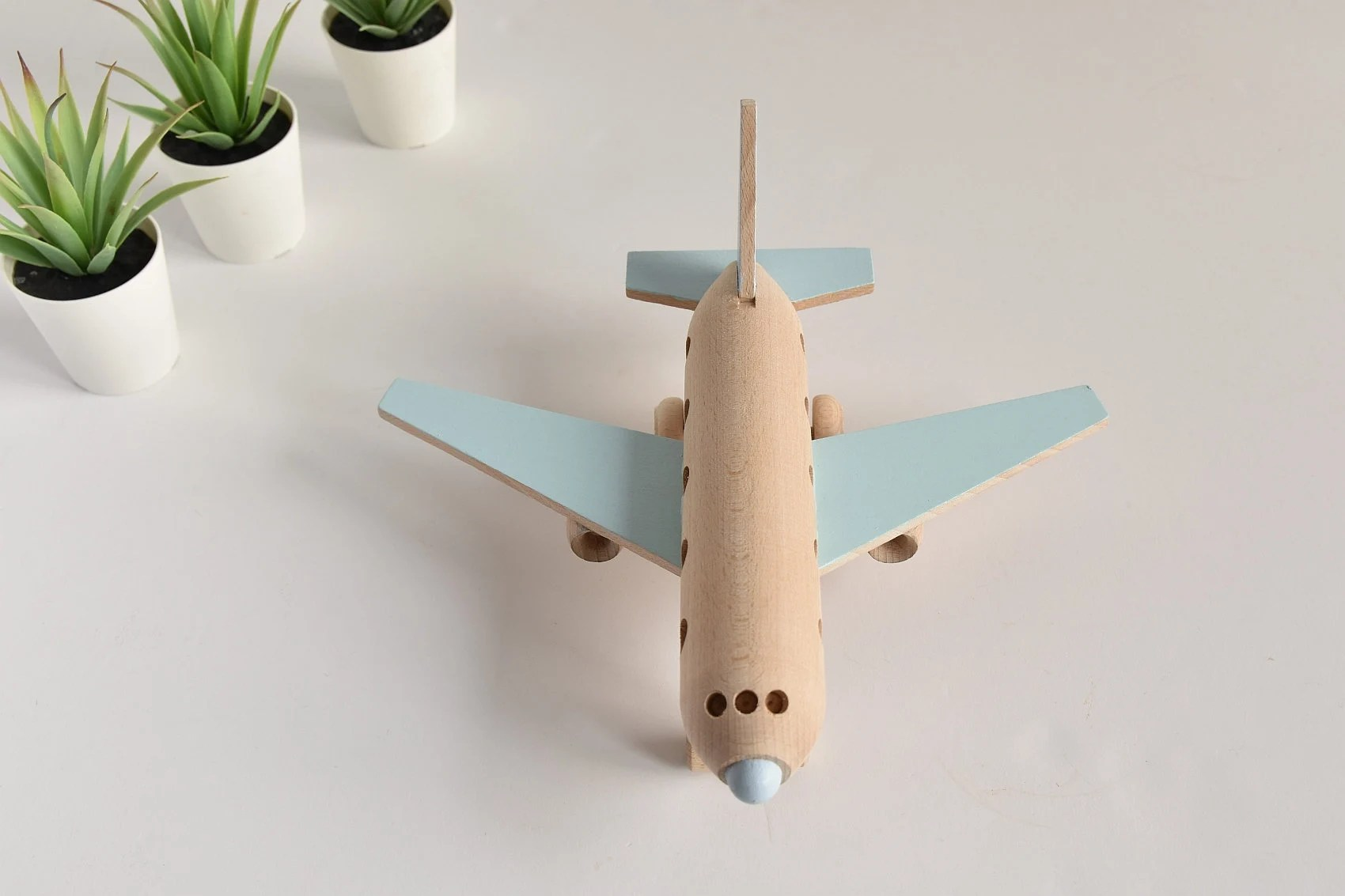 Wooden airplane  Wooden toys  Eco toy  Airplane decor  image 3