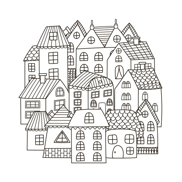 coloring pages of houses # 15