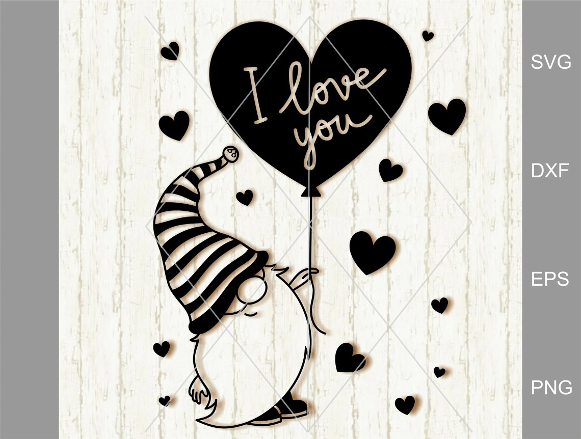 Download I love you svg Valentine Svg Clipart Gnomes Hearts Svg | Etsy